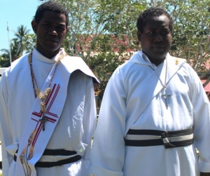 Two newly ordained Brothers.